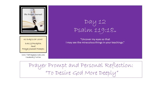 12 DAY - 40 DAYS OF LENT