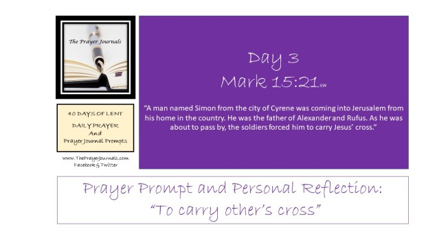 3 DAY - 40 DAYS OF LENT